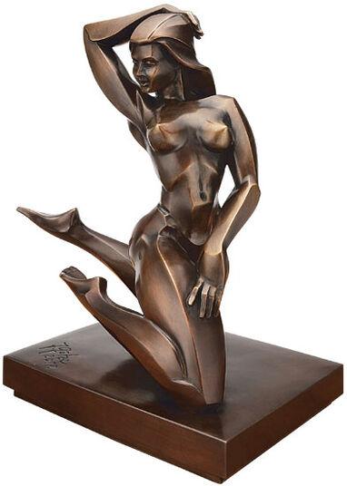 "Jürgen Götze: Sculpture ""Orchidee"", bronze"