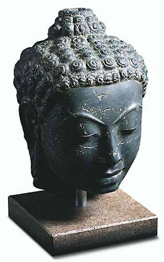 """Buddhakopf """"Supanburi"""", Kunstguss"""