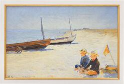 """Bild """"Jungen am Strand von Skagen"""" (1893), gerahmt"""