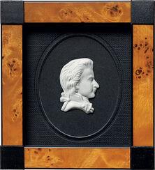 """Miniatur-Porzellanbild """"Mozart"""", gerahmt"""