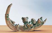 """Skulptur """"Mond-Urlaubär"""", Bronze"""