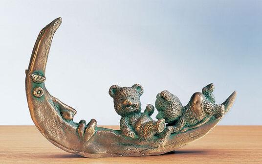 "Rainer Hercks: Skulptur ""Mond-Urlaubär"", Bronze"