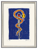 "Bild ""Aesculap Blue/Yellow"" (2008), gerahmt"