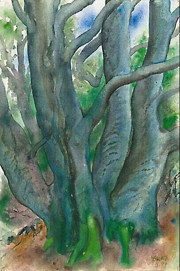 "Günter Grass: Picture ""Tree I. Forest Landscape 2000 '"