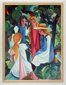 "Painting ""Four Girls"" (1912/13) in museum frame"