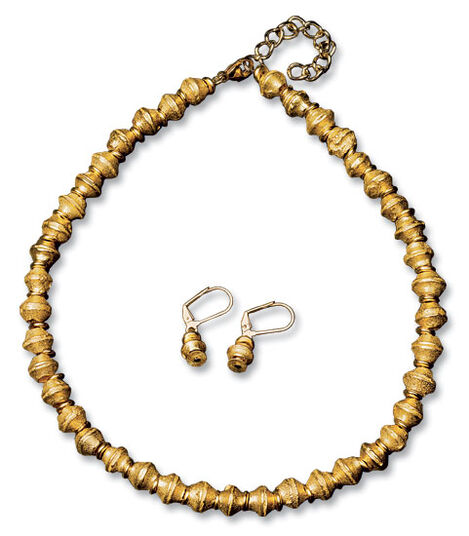 "Petra Waszak: Jewellery Set ""Argonaut Gold"""