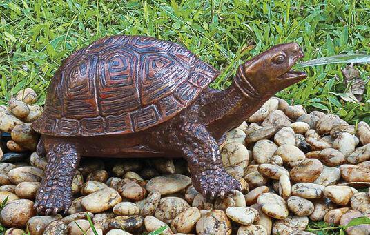 """Garden sculpture/Gargoyle """"Turtle"""", bronze"""