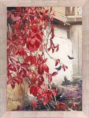 """Bild """"Wilder Wein"""" (1907), gerahmt"""