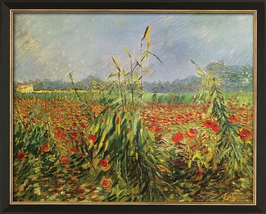 """Vincent van Gogh: Bild """"Grüne Kornhalme"""" (1888), gerahmt"""