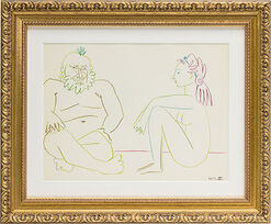 """Without Title"" (1954) in baroque frame"