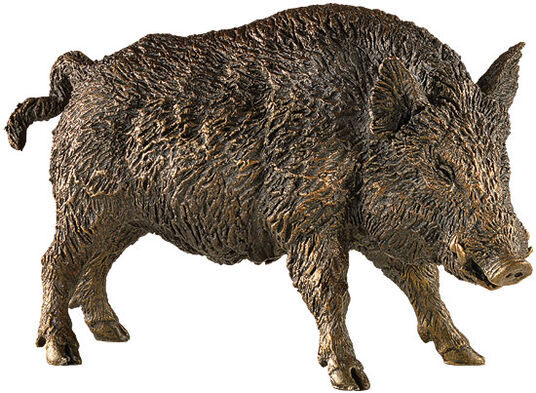 "Axel Luther: Sculpture ""Boar"", polymer bronze"