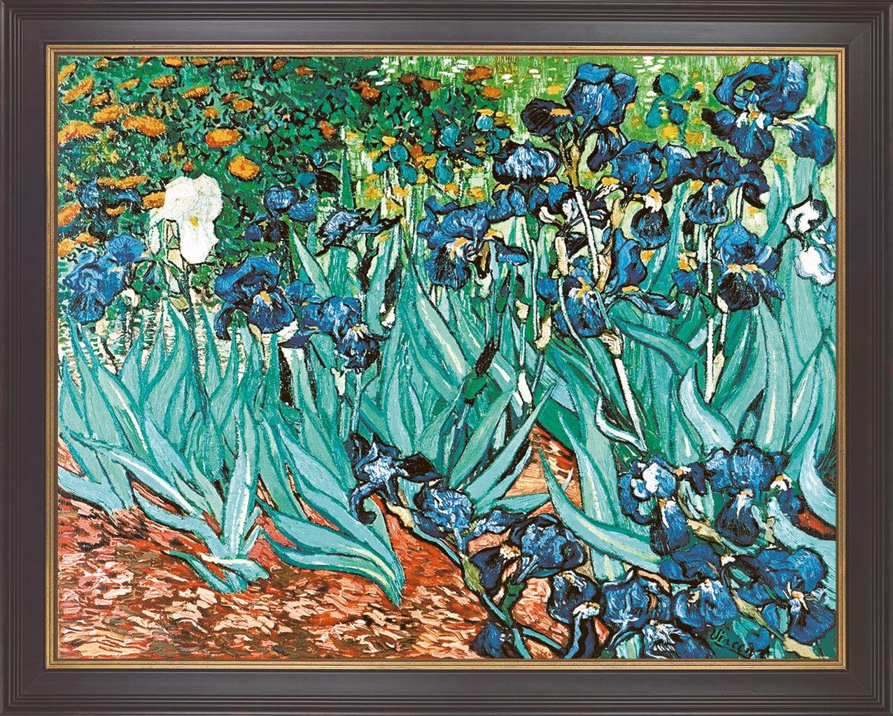"Painting ""Iris"" (1889), framed"