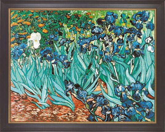 "Vincent van Gogh: Painting ""Iris"" (1889), framed"