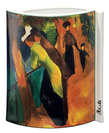 "August Macke: Porcelain ""Sunny Road"" (1913)"