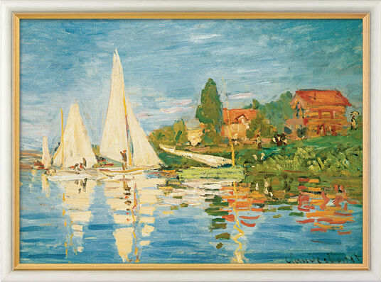 "Claude Monet: Bild ""Regatta in Argenteuil"" (1872), gerahmt"