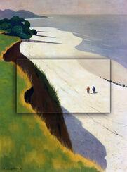 """Bild """"La Falaise de la Grève Blanche"""" (1913), Dimension 2"""