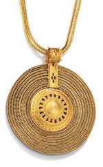 """Necklace """"Aton sun wheel"""""""