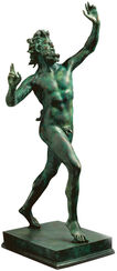 "Sculpture ""Fauno Danzante from Pompeii"" (Original size), Version in Cold cast bronze"