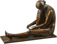 Sculpture 'Bather', artificial bronze