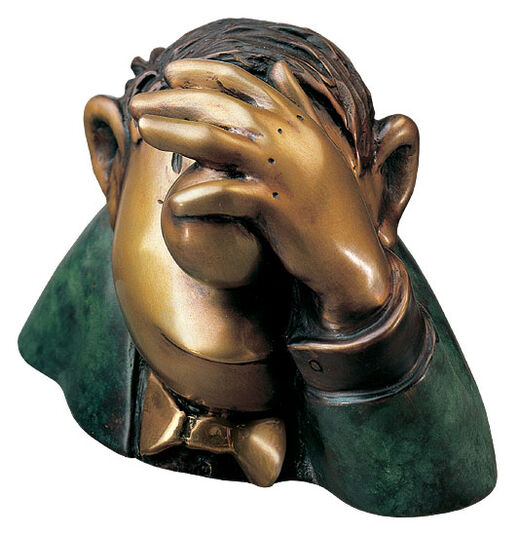 "Loriot: Sculpture ""The Optimist"", bronze"