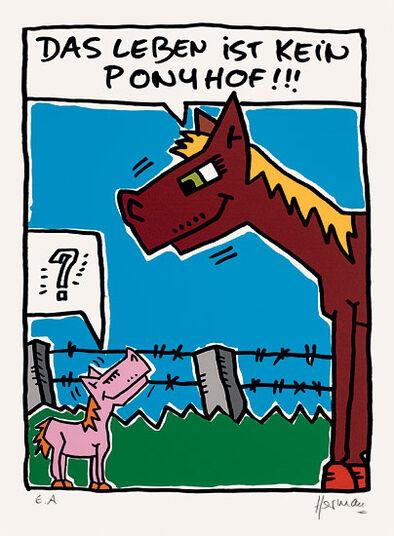 """Herman: Bild """"Das Leben ist kein Ponyhof"""" (2012), ungerahmt"""