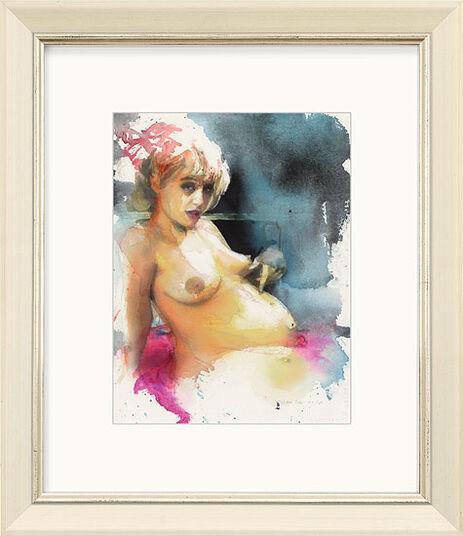 """Martin Eder: Bild """"Ohne Titel (pink)"""" (2001) (Unikat)"""