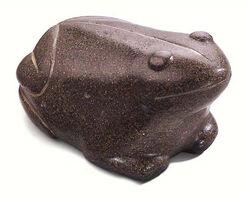 """Weightstone """"Babylonian Frog"""" artistic metallic castings"""