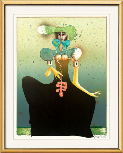 "Paul Wunderlich: Picture ""Thalia"" - from Graphic Series ""Three Graces"""
