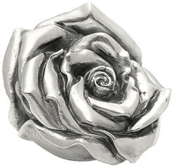 "Skulptur ""Rose"" (2012), Version versilbert"