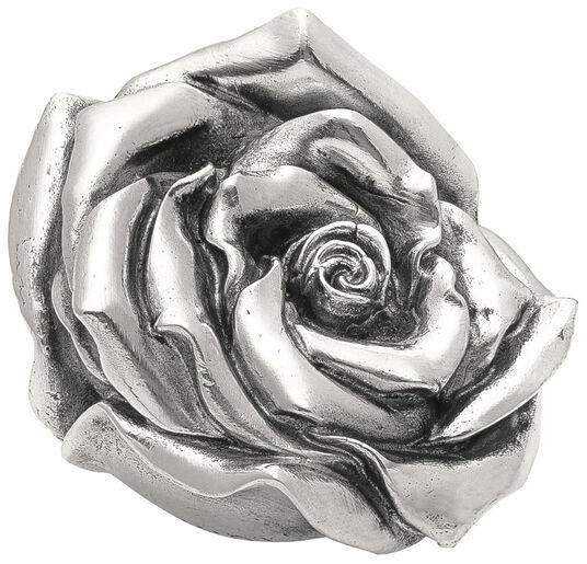 "Ottmar Hörl: Skulptur ""Rose"" (2012), Version versilbert"