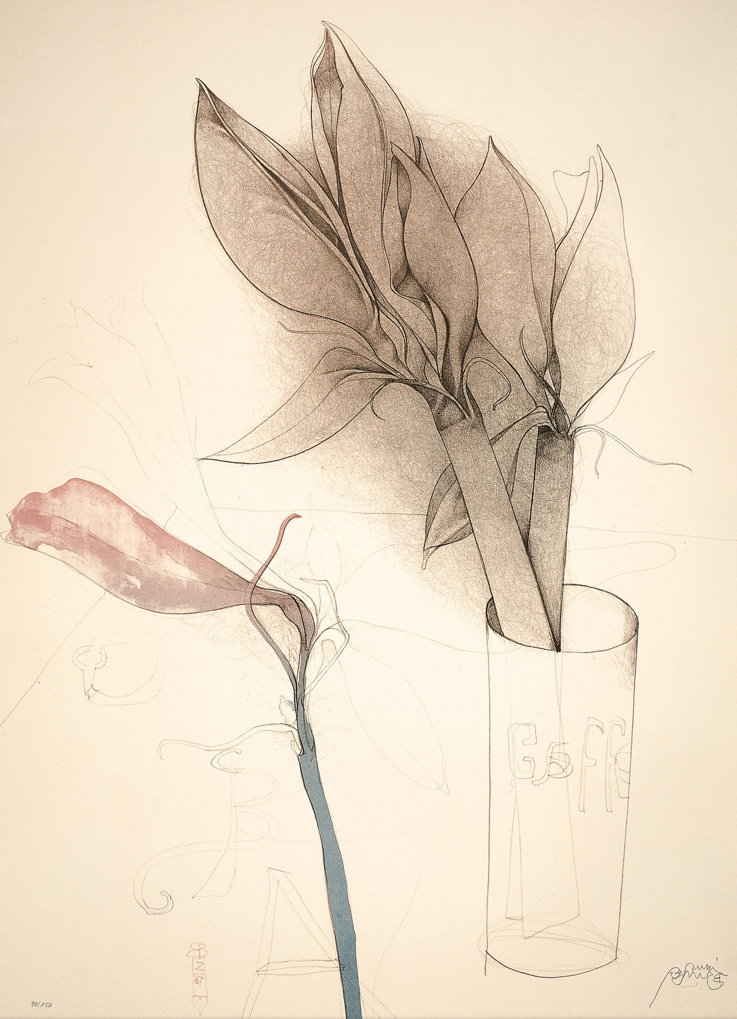 """Picture """"Amaryllis and Gaffel"""" (1987)"""