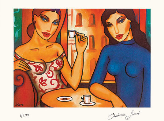 "Ekaterina Moré: ""Two Women in a Café"""