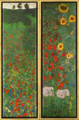 "2 Paintings ""Poppy Field"" and ""Sunflowers"" in a set"