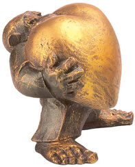"Skulptur ""Heart of Gold"" (Mann), Kunstguss"