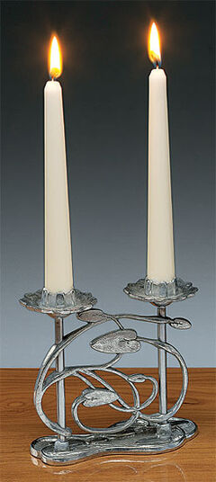 "Rudolf Chlada: Two Flame Candlestick ""Water Lily"""