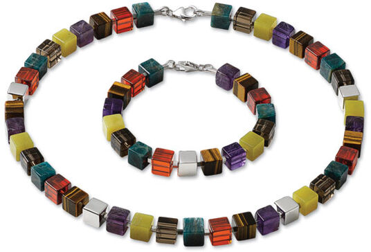 "Marc Kolsters: Jewelry set ""Cubo"""