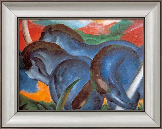 """Franz Marc: Bild """"Die großen blauen Pferde"""" (1911), gerahmt"""