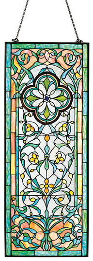"""Tiffany Window Picture """"Floral Ornaments"""""""