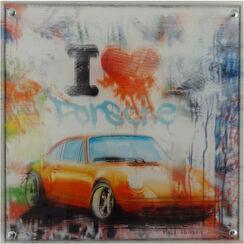 """Bild """"I Love Porsche (klein)"""" (2017)"""