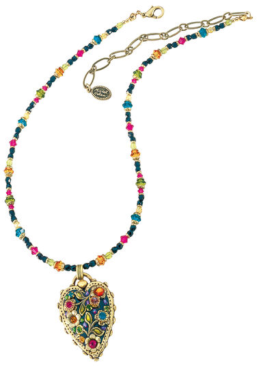 """Michal Golan: Necklace """"Multi Flower Crystal"""""""