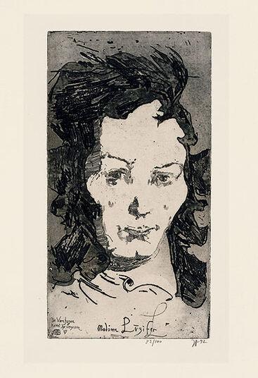 """Horst Janssen: Bild """"Madame Luzifer"""" (1992)"""