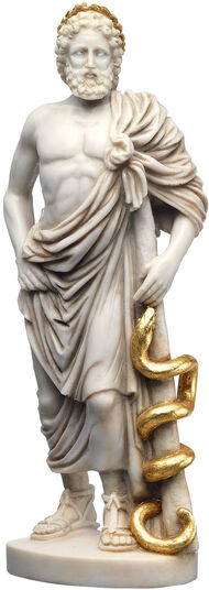 "Sculpture ""The Doctor God Asclepius"", Reduction"