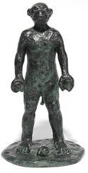 """Skulptur """"Malerstamm"""" (2002), Bronze"""