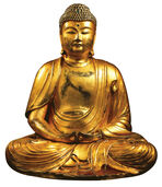 "Hand gilded Buddha sculpture ""Amitabha"", art castings"