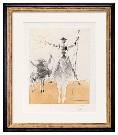 """Salvador Dalí: Bild """"Don Quichotte & Sancho Pança"""" (1968/80)"""