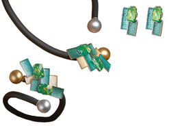 "Jewelry Set ""Petrol"""