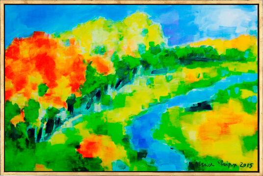 "Ulrich Lipp: Bild ""Landschaft II"" (2015) (Unikat)"