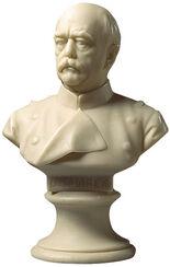 """Portrait bust """"Otto von Bismarck"""" (1897), artificial marble"""