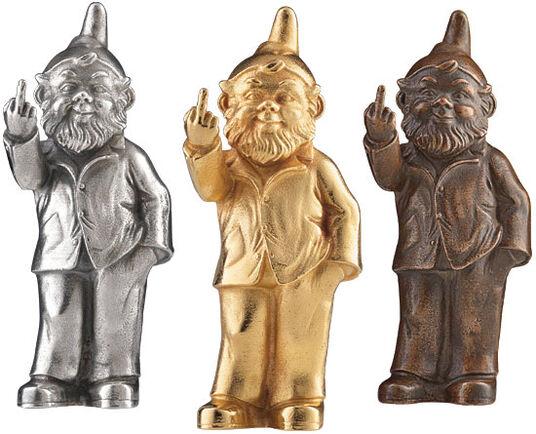 "Ottmar Hörl: 3 sculptures ""Sponti Dwarfs"" in a set"