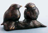 "Sculpture ""Sparrows"", Bronze"